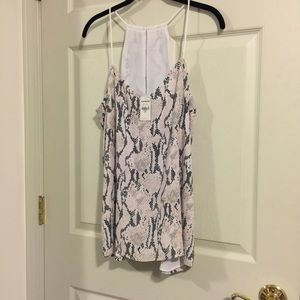 Snake print design cami from Express NWT